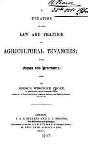 Cover of: A Treatise on the Law and Practice of Agricultural Tenancies: With Forms and Precedents