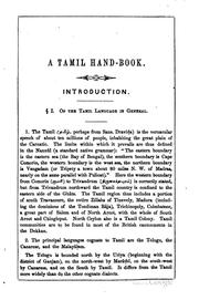 Cover of: A Tamil hand-book | George Uglow Pope