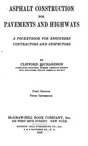 Cover of: Asphalt Construction for Pavements and Highways: A Pocket-book for Engineers, Contractors and ..