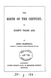 Cover of: The birth of the century; or, Eighty years ago