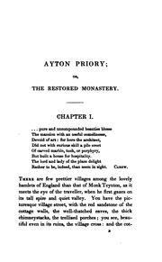 Cover of: Ayton priory; or, The restored monastery