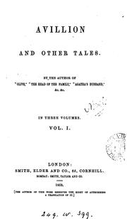 Cover of: Avillion, and other tales, by the author of 'Olive'