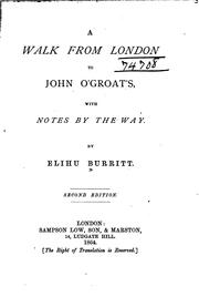 Cover of: A Walk from London to John O'Groat's: With Notes by the Way