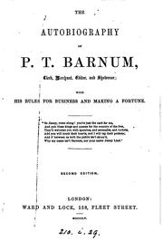 Cover of: The autobiography of P.T. Barnum
