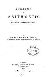 Cover of: A text-book of arithmetic for use in higher class schools