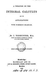 A treatise on the integral calculus and its applications by Isaac Todhunter