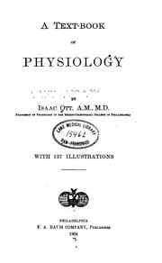 Cover of: A Text-book of physiology | Isaac Ott