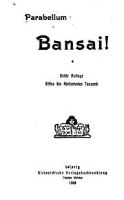 Cover of: Bansai!