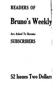 Cover of: Bruno's Weekly