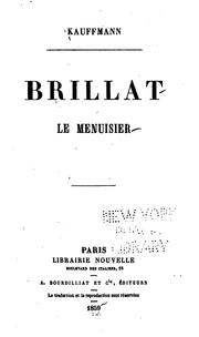 Cover of: Brillat le menuisier