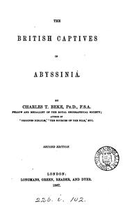 Cover of: The British captives in Abyssinia