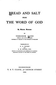 Cover of: Bread and Salt from the Word of God: In Sixteen Sermons