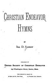 Cover of: Christian Endeavor Hymns | Ira David Sankey