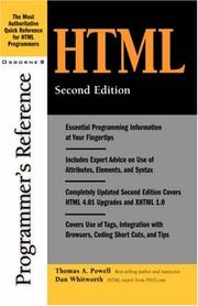Cover of: HTML programmer's reference