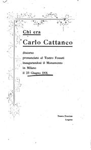 Cover of: Chi era Carlo Cattaneo