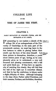Cover of: College Life in the Time of James the First: As Illustrated by an Unpublished Diary of Sir ..