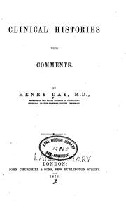 Cover of: Clinical histories with comments | Henry Day
