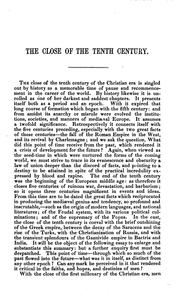 Cover of: The Close of the Tenth Century of the Christian Era: The Arnold Prize Essay ..