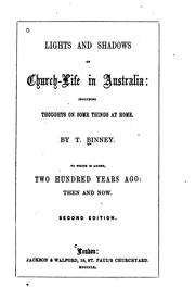 Cover of: Church-life in Australia: With Two Hundred Years Ago | Thomas Binney