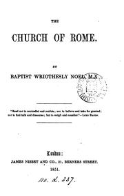 Cover of: The Church of Rome