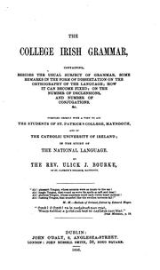 Cover of: The college Irish grammar | Ulick Joseph Bourke