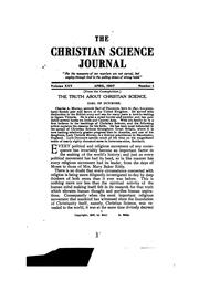 Cover of: The Christian Science Journal | Mary Baker Eddy