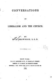 Cover of: Conversations on liberalism and the Church