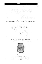 Cover of: Correlation Papers ; Eocene