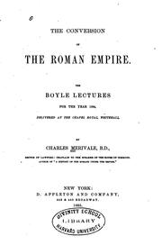 Cover of: The Conversion of the Roman Empire: The Boyle Lectures for the Year 1864