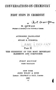 Cover of: Conversations on chemistry v. 2, 1906