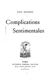 Cover of: Complications sentimentales