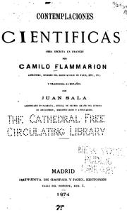 Cover of: Contemplaciones' cientificas