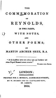 Cover of: The Commemoration of Reynolds: In Two Parts, with Notes, and Other Poems