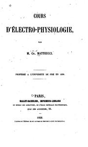 Cover of: Cours d' électro-physiologie [tr. by the author]