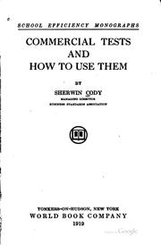 Cover of: Commercial tests and how to use them
