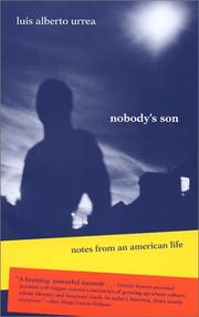 Cover of: Nobody's Son: Notes from an American Life