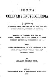 Cover of: Culinary Encyclopaedia: A Dictionary of Technical Terms