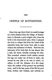 Cover of: The cripple of Rottenstein, tr. by Mrs. W.H