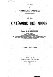 Cover of: De la categorie des modes ..