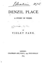 Cover of: Denzil Place: A Story in Verse