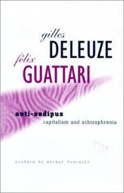 Anti-Œdipe by Gilles Deleuze