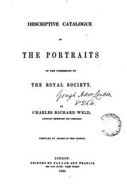 Cover of: Descriptive catalogue of the portraits in the possession of the Royal society