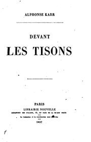 Cover of: Devant les tisons