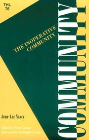Cover of: The inoperative community