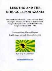 Lesotho and the struggle for Azania by Bernard Leeman