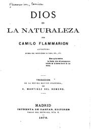 Cover of: Dios en la naturaleza