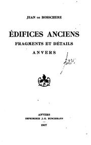 Édifices anciens: fragments et détails, Anvers