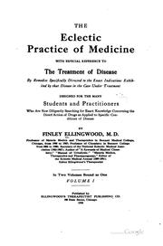 Cover of: The Eclectic Practice of Medicine with Especial Reference to the Treatment ..