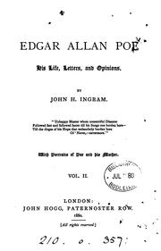 Cover of: Edgar Allan Poe: his life, letters, and opinions
