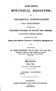 Cover of: Edwards's Bontanical Register